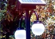 Luminaria poste solar dos eferas 3mts
