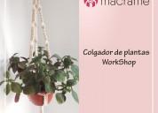 Taller colgador de plantas – curso de macramé