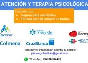 Terapia y atenciÓn  psicolÓgica