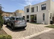 Casa condominio sta elena chicureo 4 dorm 3 banos piscina 189 m2