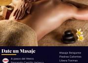 Masaje con piedras / metro fernando castillo v.
