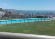 arriendo hermoso departamento con espectacular vista al mar 3 dormitorios 80 m2