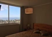 arriendo departamento con hermosa vista al mar 2 dormitorios 70 m2