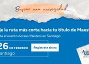 Maestría en santiago el día 26 de febrero