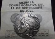 Medalla conmemorativa 11 de septiembre 1973,plata