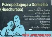Psicopedagoga a domicilio particular (huechuraba)