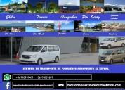 Servicios de transporte particular aeropuerto el t
