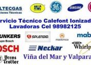 Servicio calefont y estufas c:998982125 viña del m