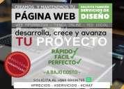 Creacion de paginas web informativa tienda online.