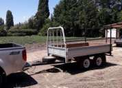 Carro de arrastre doble eje cap carga 1600 kgs.