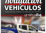 Ploteo de logotipos adhesivos para vehiculos santiago