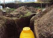 Instalacion fosa septica y dren santiago