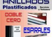 Anillados plastificados fotocopia digital