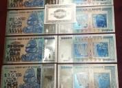 Coleccion de billetes zimbabwe