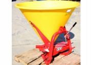 Trompo abonador 600kg pto para tractor plastico