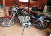 Hermosa moto clasica harley davidson concepcion