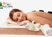 Piedras calientes mas masajes de relajacion