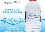 Agua purificada envase de 6 litros