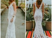 Bellos vestidos de novia a crochet