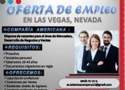 Oferta de trabajo u empleo en eeuu