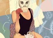 Compartir depto. mujer joven delgada extranjera