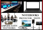 Arriendo notebook computadores proyector telón