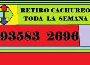 Retiro cachureos  935 832 696  varios  comunas.--