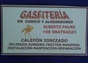 Servicio técnico calefón en curico  984764223