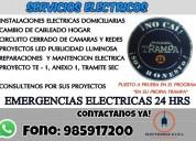 Tecnico eléctrico a domicilio,autorizado sec 24 hr
