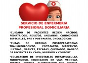 Servicio de enfermerÍa profesional domiciliaria