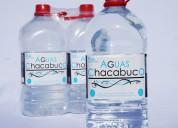 Agua purificada envase de 6 litros desechable