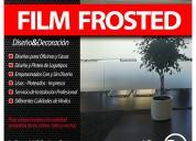 Autoadhesivo frosted empavonado y decoracion de ventanales de oficinas