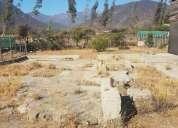 Se vende terreno de quebrada alvarado olmue 500 m2