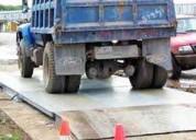 Bascula de camione, romanas de camionetas, balanza