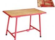 Mesas armables para trabajos pesados excelente