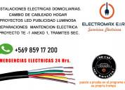 Electromax- eléctrico 24/7 atendemos toda la rm