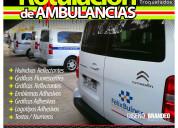Rotulación gráfica autoadhesiva de ambulancias
