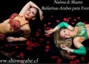 Show de bailarinas de danza arabe.
