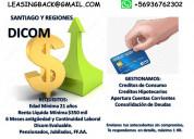 Creditos de consumo hipotecarios. cuenta con dicom