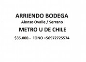 Amplia bodega metro u de chile $35.000.-