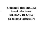 Oportunidad bodega subterrÁnea. metro u de chile