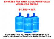 Envases pet para agua pourificada por mayor