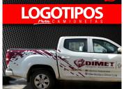 Gráficas adhesivas publicitarias para camionetas