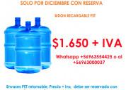 Envases para agua de 20 litros por mayor