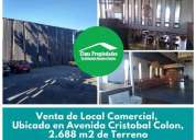 Local en venta hualpen av colon 2688 m2 terreno en hualpén