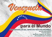 Abogados venezolanos migrantes, asesoría