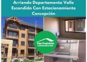 Arriendo departamento valle escondido concepcion 2 dormitorios 45 m2