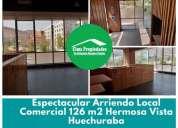 Espectacular local comercial huechuraba ubicacion unica 126 m2