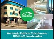 Oficinas en arriendo talcahuano edificio 1 050 m2