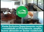 Venta exclusivo departamento 3d 3b providencia 3 dormitorios 105 m2